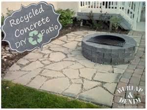 recycled concrete patio recycled concrete patio burlap denimburlap denim