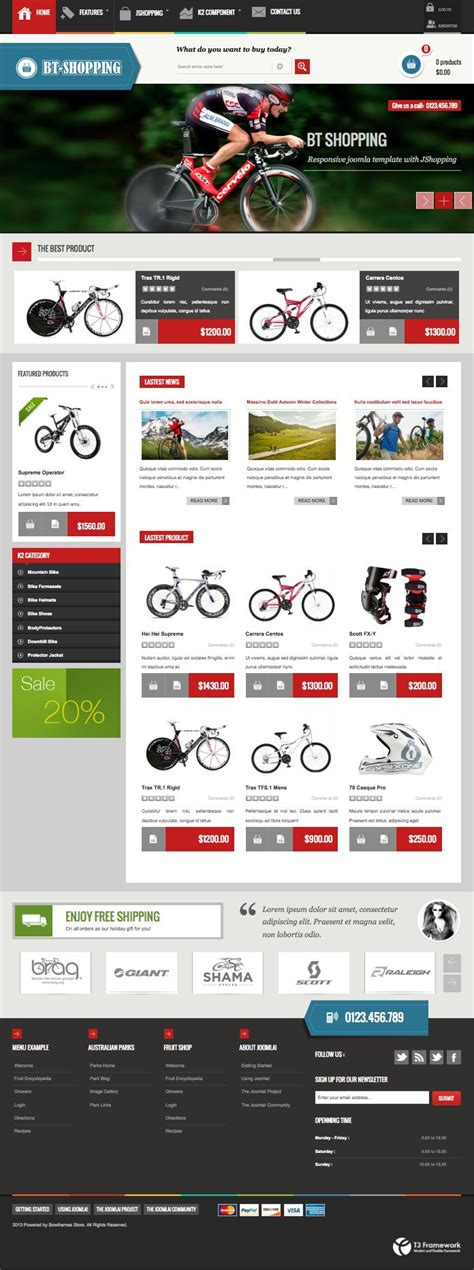 joomla shop template bt shopping joomla template built in jshopping component