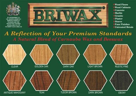 Compare Kitchen Cabinets briwax color chart the briwax guy