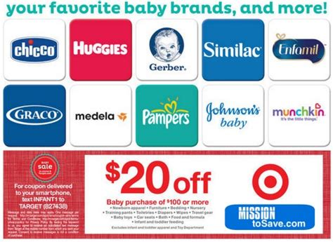 target baby items coupon 20 100 purchase
