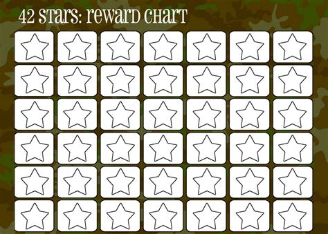 printable star tokens printable reward charts for kids activity shelter