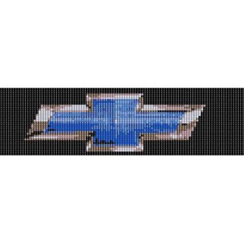 chevy bow tie blue peyote beading pattern for cuff