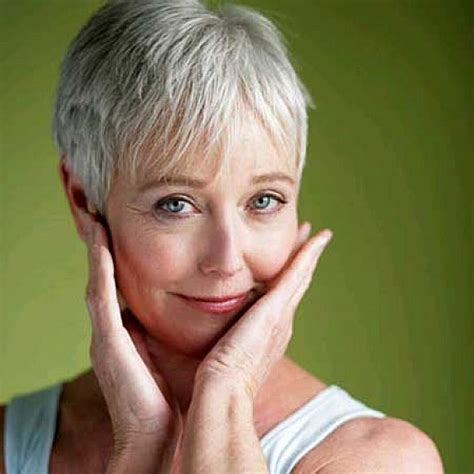 How To Care For Older Thinning Silver Hair | very short hairstyles with bangs for older women