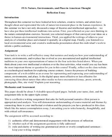Exles Of Personal Reflective Essays by Personal Reflective Essay Exles