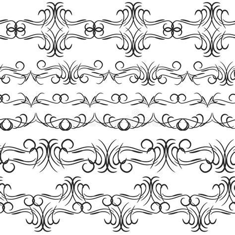 sewing borders design elements vector vintage border design elements black on white background