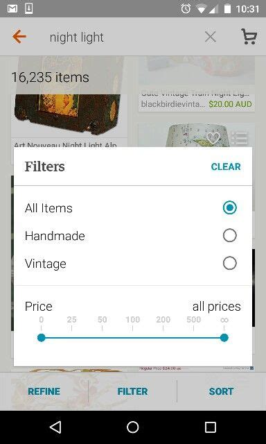 etsy for android etsy app for android range slider and filter list ui controls sliders etsy