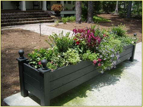 Backyard Planters Ideas by Flower Box Ideas For Balcony Windows Indoor And Front Yard