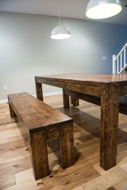 rustic modern dining room tables modern rustic farmhouse dining room table and bench set