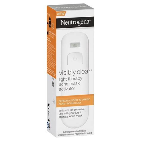 light therapy acne mask activator neutrogena visibly clear light therapy acne mask activator