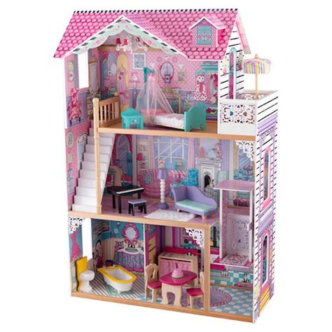kidkraft wooden dolls house annabelle dollhouse kidkraft wooden doll houses at directtoys nz