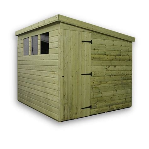 Pent Shed 6 X 3 by 6 X 4 Pressure Treated Tongue And Groove Pent Shed With 3