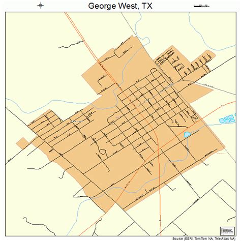where is west texas on a map george west texas map 4829348