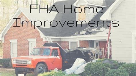 fha home improvements