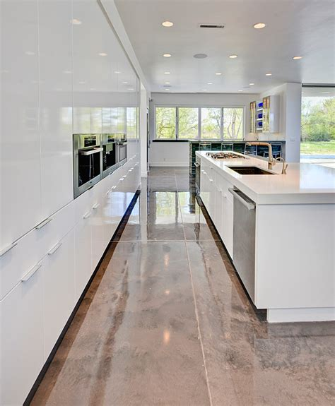 Kitchen Design Process Metallic Epoxies Glitter On The Floor At A Contemporary