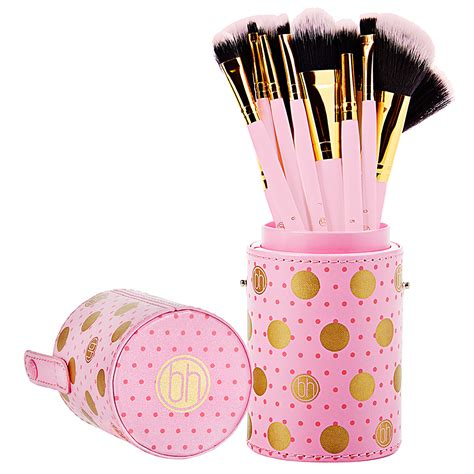 Bh Cosmetics Pink A Dot Brush bh cosmetics dot collection 11 brush set pink reviews in makeup brushes tools