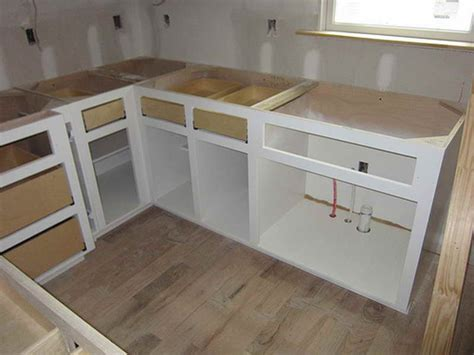 Diy Build Kitchen Cabinets by Kitchen Cabinets Diy Marceladick
