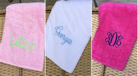 Embroidered Towel Bath Towel the greystone store personalized embroidered bath towels
