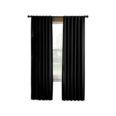 black curtain curtainworks saville 108 in black thermal curtain panel