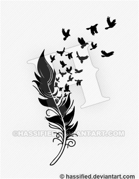 feather into birds by hassified on deviantart
