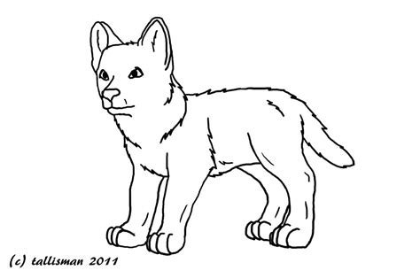 baby werewolf coloring page free wolf pup line art by tallybaby13 on deviantart
