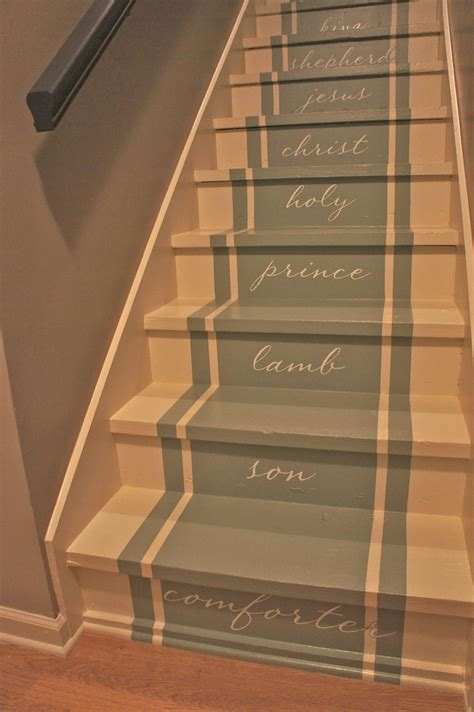 chalk paint steps painted stairs stair makeover