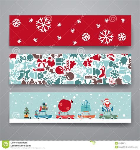 Merry Christmas Set Of Card Templates Stock Vector Image 63478876 Merry Greeting Card Template