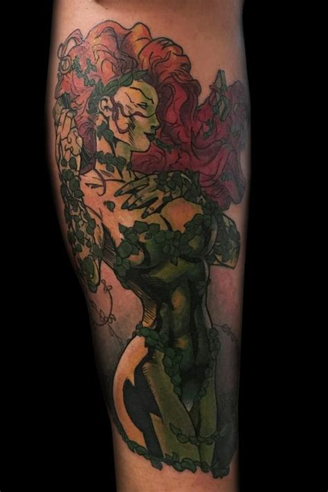 poison ivy tattoo poison and bane www imgkid the image