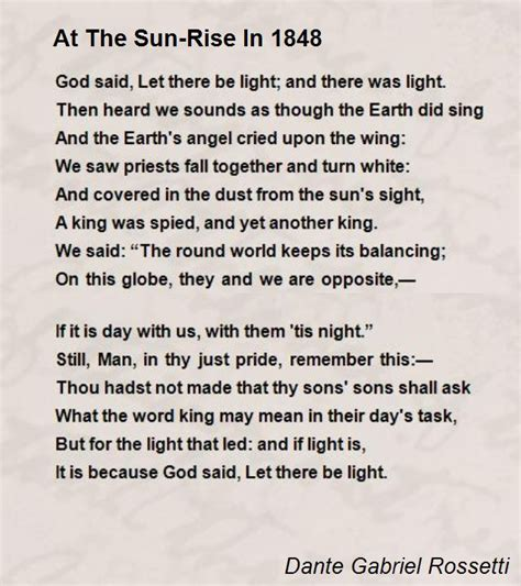 together we rise the at the protest heard around the world books at the sun rise in 1848 poem by dante gabriel rossetti