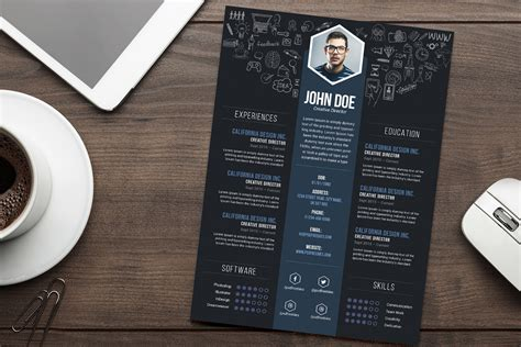 Free Creative Resume Cv Designtemplate Psd File Good Free Creative