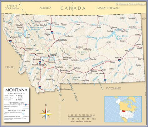 billings montana on map of usa reference map of montana