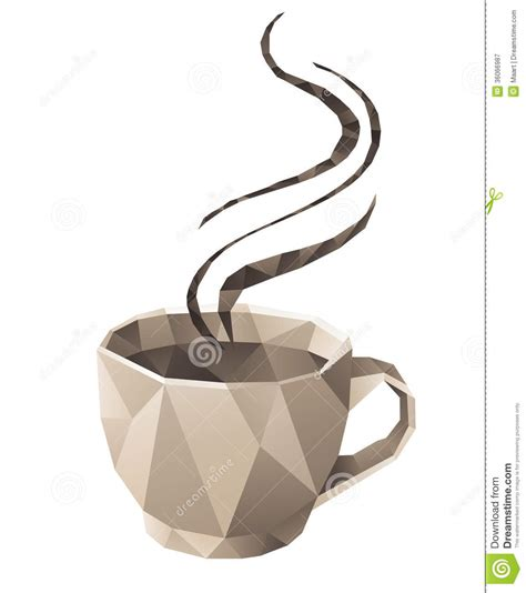 Origami Coffee - coffee cup stock vector image of milk icon caffeine