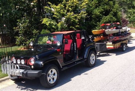 jeep kayak trailer 17 best images about kayak trailer on utility
