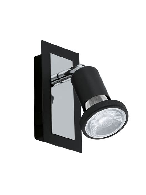 applique moderno applique moderno spot a led nero glo 94963 sarria