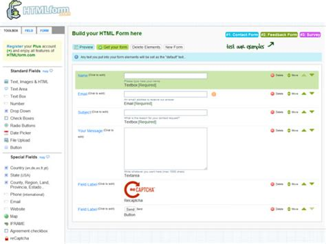 html web form builder free html form builders web development and