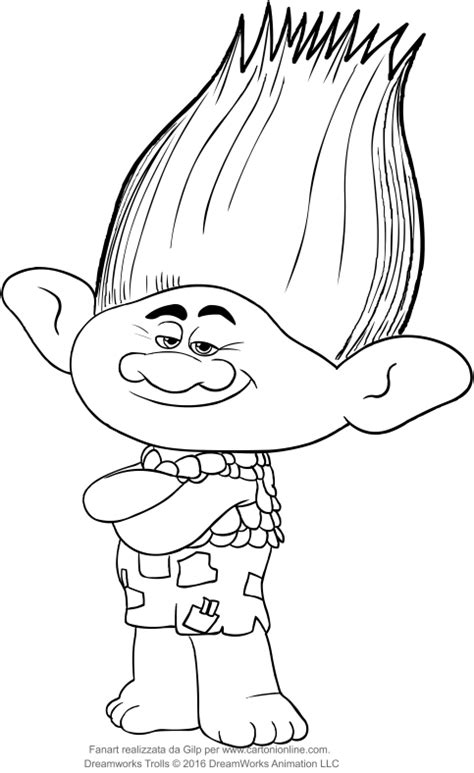 branch from the trolls coloring pages