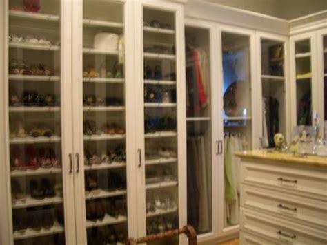 Shoe Closet With Doors Walk In Closet With Paneled Bi Fold Wardrobe Closet Doors Transitional Closet