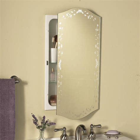 Recessed Bathroom Mirror Cabinets Recessed Medicine Cabinets With Mirrors For Bathroom Useful Reviews Of Shower Stalls