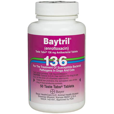 baytril dosage for dogs baytril 136mg per taste tablet