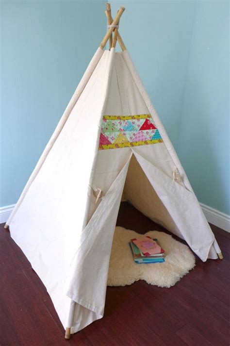 Handmade Teepee - canvas teepee tent with 6 ft bamboo poles by