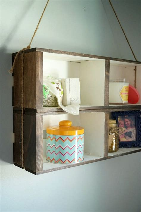 How To Make On A Shelf by Diy Hanging Crate Wall Shelf