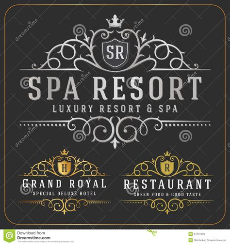 What Is The Name Of The Resort In Couples Retreat Luxurious Royal Logo Vector Re Sizable Design Template