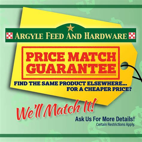 price match guarantee argyle feed store
