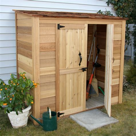 outdoor living today garden chalet  ft    ft  wood lean  tool shed reviews