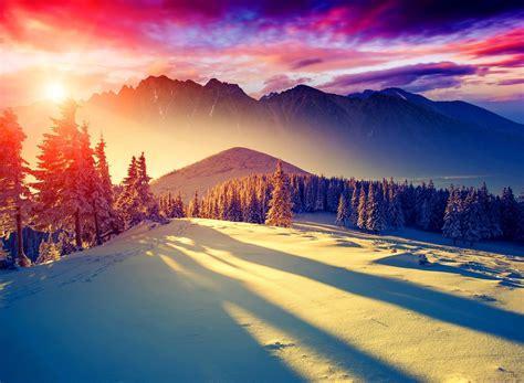 colorful sun nature beautiful rays pretty colorful sunset