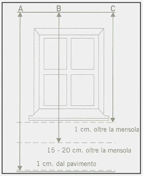 altezza davanzale finestra come prendere le misure esatte dei vari tipi di tende per