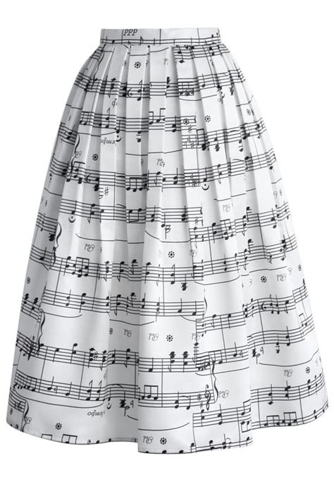 Maxi Violin Af pleated midi skirt notes and midi skirts on