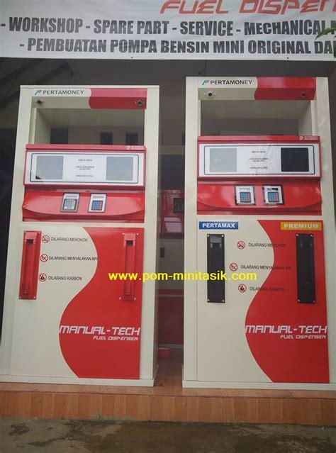 mesin pom bensin mini digital rakitan  teknologi