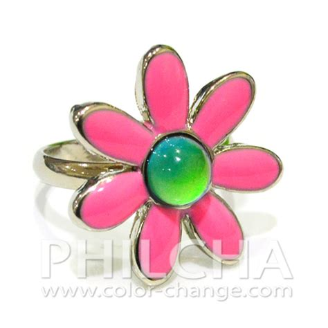 mood ring color key color change mood ring with metallic plating
