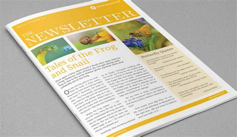 adobe indesign newspaper templates free 4 adobe indesign newsletter templates af templates