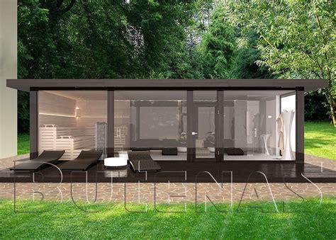 Gartenhaus Glasfront by Ob Modernes Wohnhaus Aus Holz Innensauna Mit Glasfront